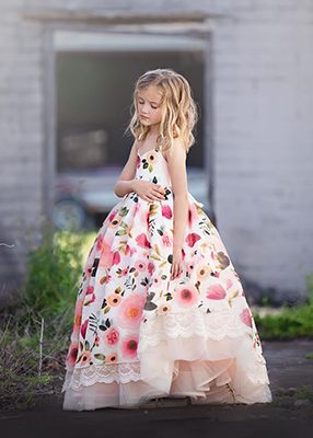 Rent The Poppy Gown - Size 7: fits 5-9yrs