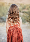 The Lace Danielle Dress: Rust