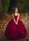 The Alyssa Gown in Burgundy