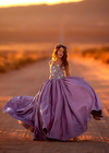 The Traveling Dress Project: The Ariel Gown - Size 12, portrait length. Fits sizes 8-13