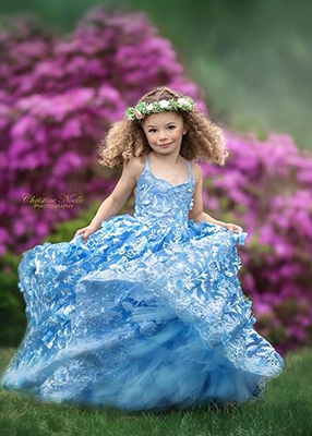 Rent The Dahlia Gown in Blue - Size 5: fits 4-7