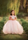 The Sophia Dress: Blush Sequin Bodice and Blush Tulle Skirt
