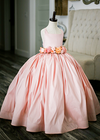 The Hadley Gown in Blush (Flower Sash Sold Separately)