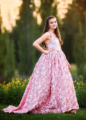 Rent The Rosaline Gown in Blush - Size 10: fits 8-13yrs
