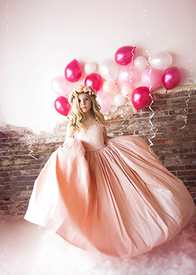 RENT The Hadley Gown in Blush - Size 12, fits sizes 8-13 (Flower Sash NOT Included)