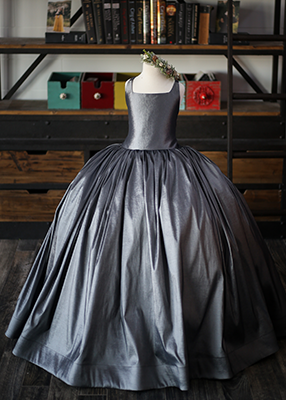 RENT The Hadley Gown in Charcoal: Size 14, fits sizes 10-14