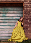 The Hadley Gown in Chartreuse