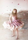 The Cosette Gown in Dusty Rose - Shortie Style