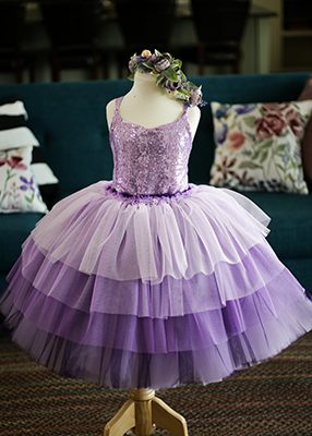 Rent The Cupcake Gown in Lavender Sequins - Size 6: fits 2-8yrs