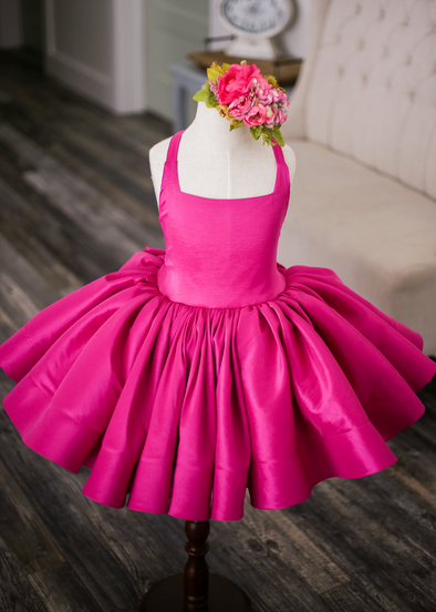 The Hadley Gown in Fuschia: Shortie Length