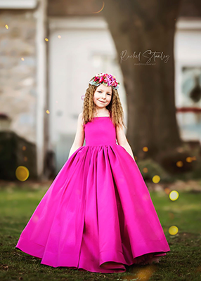 RENT The Hadley Gown in Fuschia: Size 7, fits sizes 5-9
