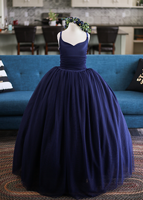 Rent The Leisel Gown in Navy Blue - Size 12: fits 8-13yrs