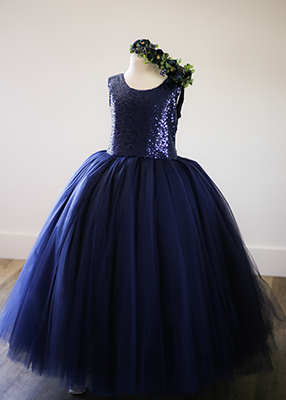 The Juliet Dress: Navy Sequin Bodice and Navy Tulle