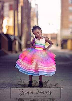 The Rainbow Bright Gown