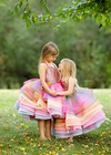 RENT The Rainbow Bright Gown: Pink Sequin Bodice - Size 6: fits 3-8years