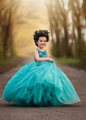 The Ophelia Dress: Teal Lace Bodice and Teal Skirt