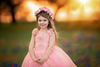 The Traveling Dress Project: Pink and Gold Star Gown - Size 5, fits sizes 4-6