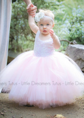 The Juliet Dress: Unicorn Sequin Bodice and Light Pink Tulle