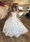 The Mariposa Gown - White Butterfly 3D Lace
