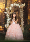 Rent The Aurora Gown in Blush - Size 8: fits 7/10