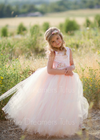 The Juliet Dress: Light Pink Satin Bodice with Pink/Blush Tulle