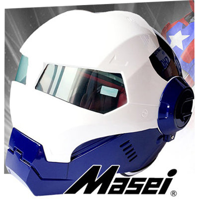 91847daf 2016 Top hot Black MASEI IRONMAN Iron Man helmet motorcycle helmet hal –  getugearedup.com