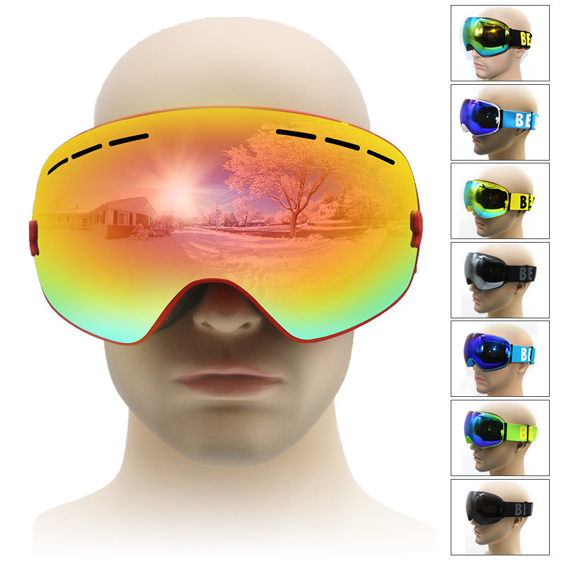 92362c6d03a0 ski goggles double UV400 anti-fog big ski mask glasses skiing men women snow  goggle ...