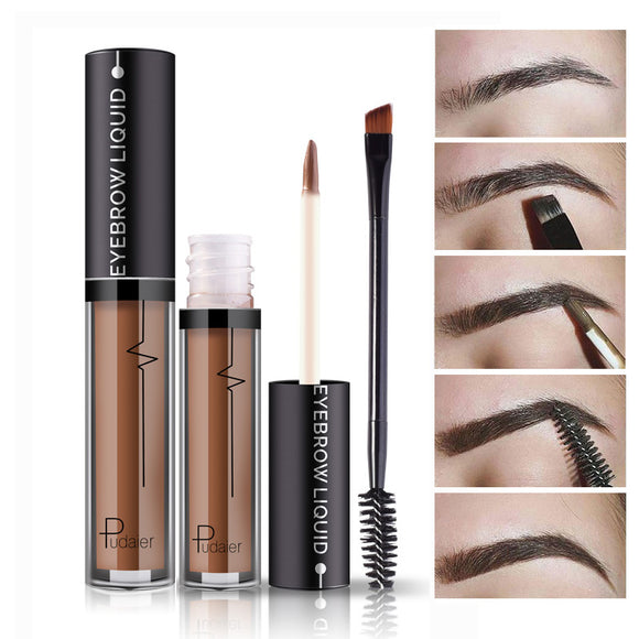 1PC Professional Eye Brow Tattoo Brand Cosmetics Long Lasting Pigments Black Brown Waterproof Eyebrow Liquid Makeup with Brush