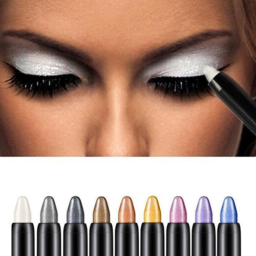 New 1pc Beauty Highlighter Eyeshadow Pencil Cosmetic Glitter Eye Shadow Eyeliner Pen