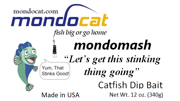 MondoMash Catfish Dip Bait 12oz. Cheese Flavor