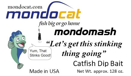 MondoMash Catfish Dip Bait Gallon Tubs Cheese Flavor