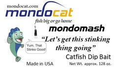 MondoMash Catfish Dip Bait - Blood Added Gallon Tubs