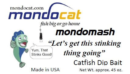 MondoMash Catfish Dip Bait 45 oz. Cheese Flavor