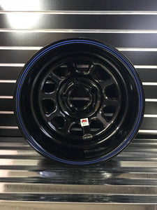 Real Wheels Gloss Black IMCA Steel Wheel, Non-Beadlock