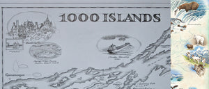 Enter to Win a Free Framed Print of 1000 Islands Map!