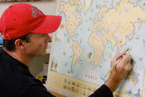 Globetrotting Artist Illustrates Old-World Style Maps, Partners to Build Montana Business