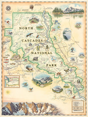Xplorer Maps Releases Hand-Illustrated North Cascades National Park Map, Donates Percentage of Map Sales to Ongoing Park Support