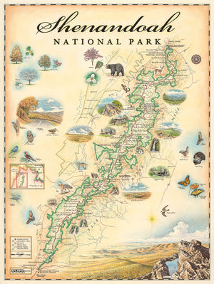 Press Release: Xplorer Maps Partners with Shenandoah National Park Association to Release Shenandoah National Park Map