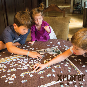 Puzzle Adventurers Discover Famous Places with New MasterPieces Xplorer Maps Line