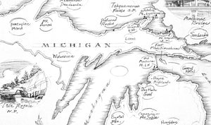 Enter to win a FREE FRAMED MICHIGAN MAP