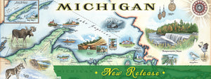 Michigan Map Art New Release