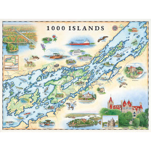 "The 1000 Islands Map is 24"" wide by 18"" tall."