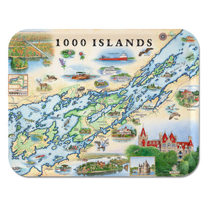 1000 islands art food serving tray