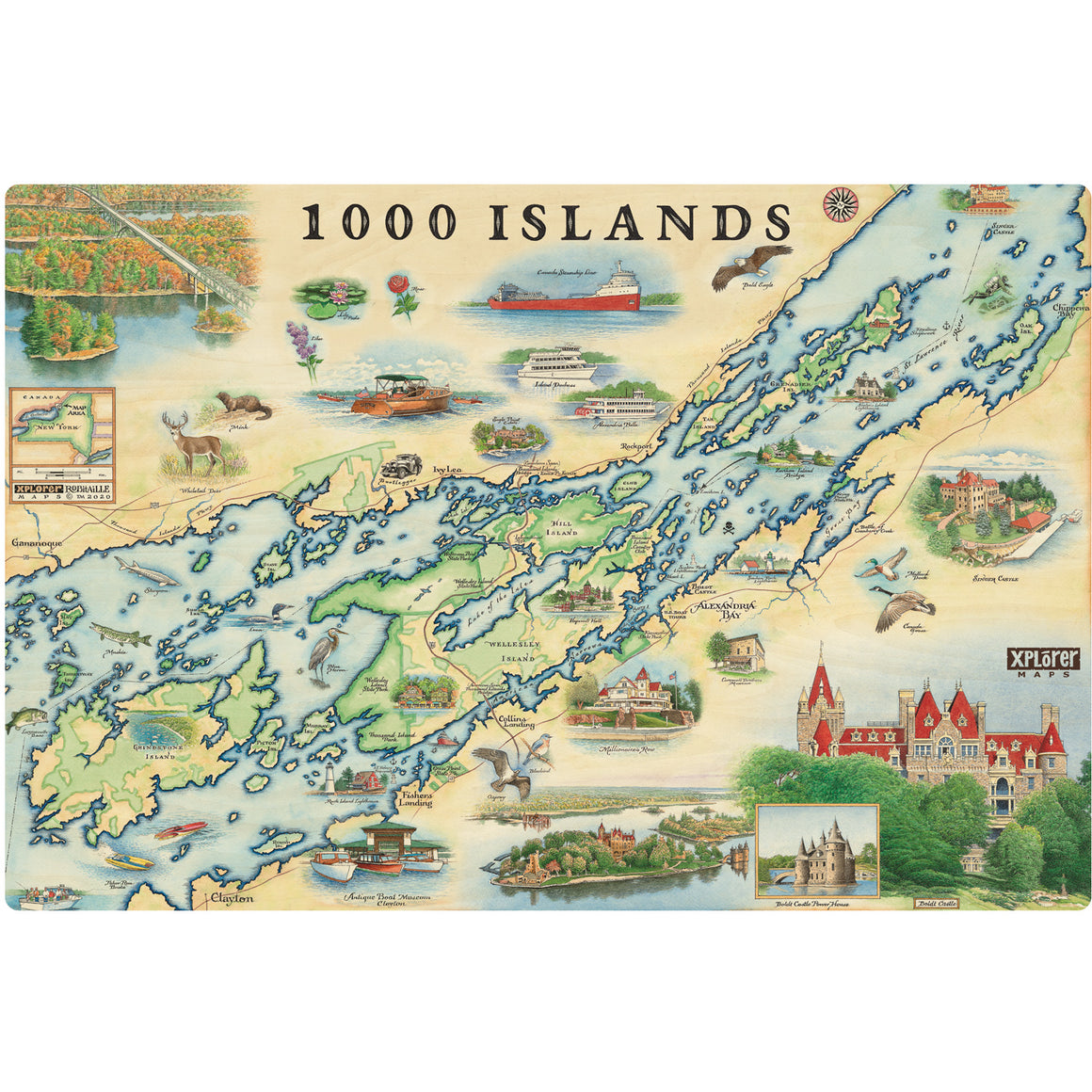 "The 1000 Islands Wood signs are 15"" by 10.5"""