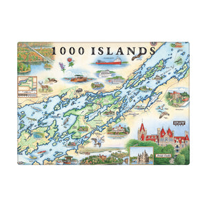 "1000 Islands Magnets are 3.5"" x 2.5"""