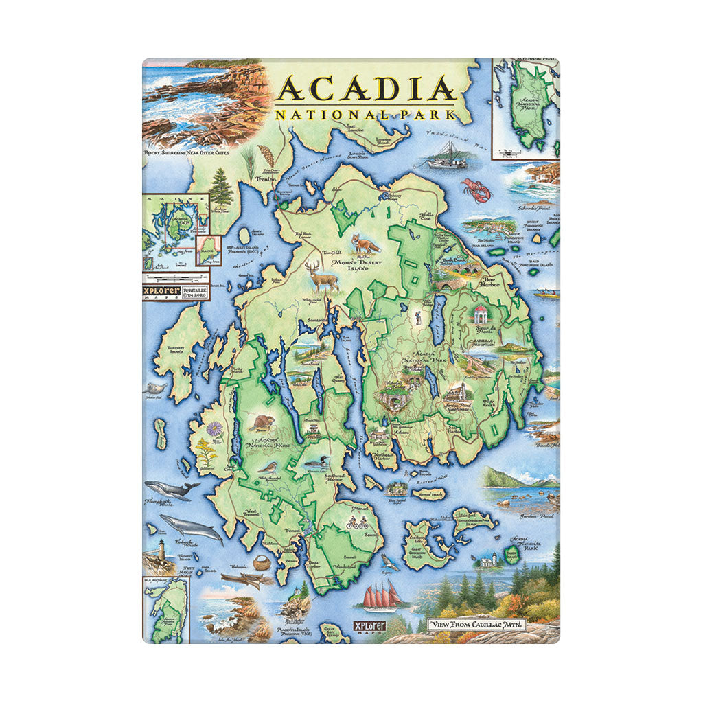 "Acadia Magnets are 3.5"" x 2.5"""