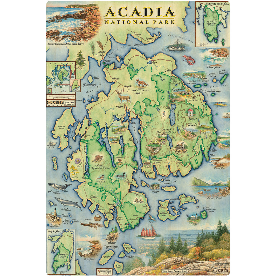 "Acadia wood signs are 15"" by 10.5"""