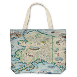 Alaska Canvas Tote Bag