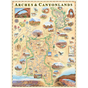 Arches & Canyonlands National Park Map