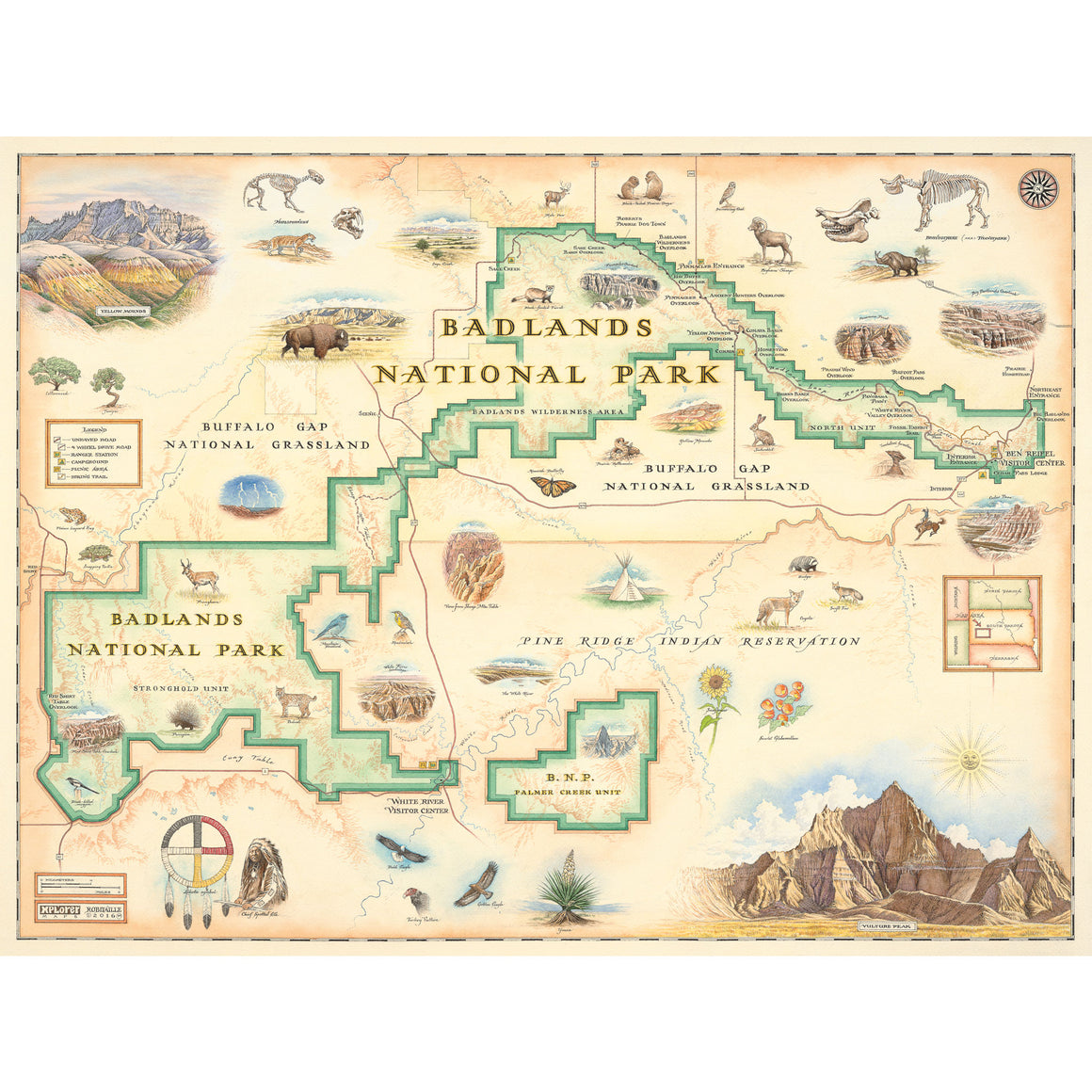 Badlands National Park Map